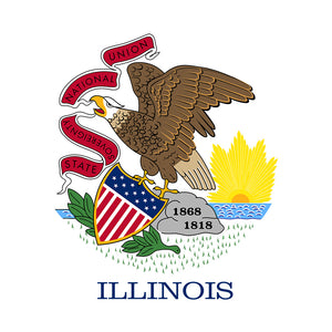 Illinois Flag Adult Mask Design Full View