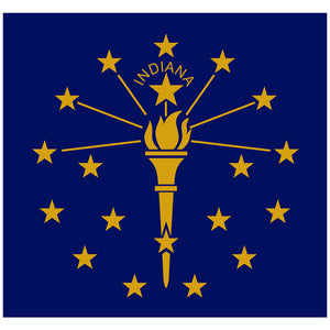 Load image into Gallery viewer, Indiana Flag