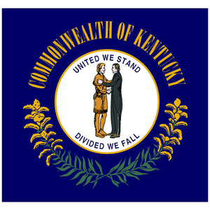 Kentucky Flag Adult Mask Design Full View