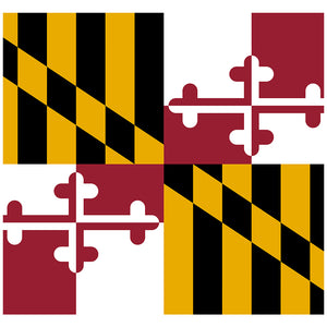 Maryland Flag Adult Mask Design Full View