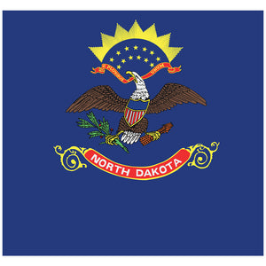 Load image into Gallery viewer, North Dakota Flag Adult Mask Design Full View
