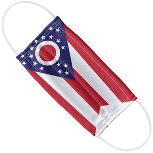 Load image into Gallery viewer, Ohio Flag Adult Flat View
