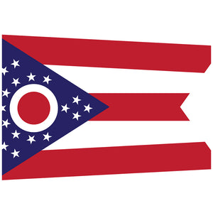 Load image into Gallery viewer, Ohio Flag Adult Mask Design Full View