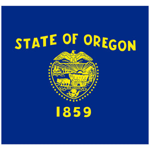 Load image into Gallery viewer, Oregon Flag Adult Mask Design Full View
