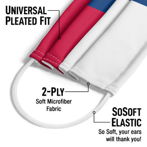 Load image into Gallery viewer, Texas Flag Adult Universal Pleated Fit, 2-Ply, SoSoft Elastic Earloops