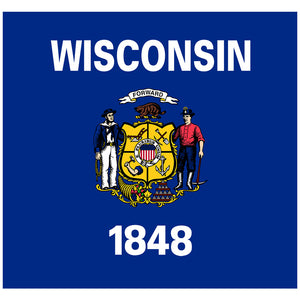 Wisconsin Flag Adult Mask Design Full View