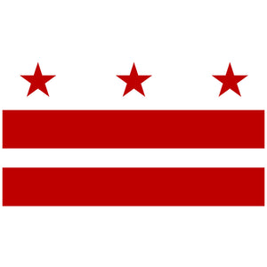 Load image into Gallery viewer, Washington D.C. Flag Adult Mask Design Full View