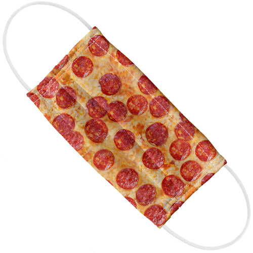 Pepperoni Pizza Pattern Adult Flat View