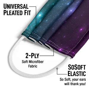Space Starfield Kids Universal Pleated Fit, 2-Ply, SoSoft Elastic Earloops