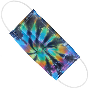 Blue Spiral Tye Dye Pattern Adult Flat View