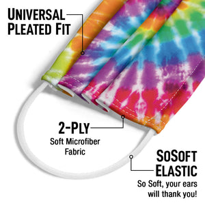 Tie Dye Spiral Adult Universal Pleated Fit, 2-Ply, SoSoft Elastic Earloops