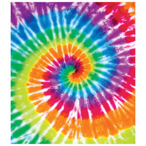 Tie Dye Spiral Kids Mask Design Full View