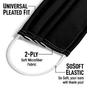 Solid Black Adult Universal Pleated Fit, 2-Ply, SoSoft Elastic Earloops