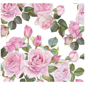 Pink Roses Flower Pattern Adult Mask Design Full View