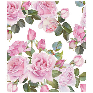Load image into Gallery viewer, Pink Roses Flower Pattern Kids Mask Design Full View