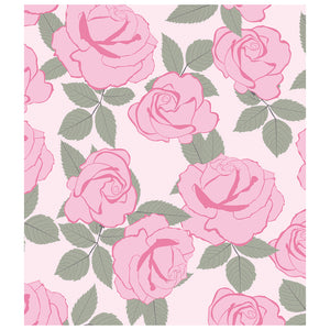 Pink Roses Flowers Pattern