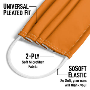 Solid Tangerine Dream Adult Universal Pleated Fit, 2-Ply, SoSoft Elastic Earloops