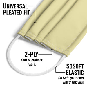 Load image into Gallery viewer, Solid Lemon Chiffon Adult Universal Pleated Fit, 2-Ply, SoSoft Elastic Earloops