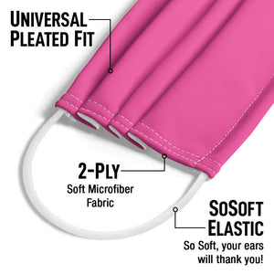 Hot Pink Solid Adult Universal Pleated Fit, 2-Ply, SoSoft Elastic Earloops
