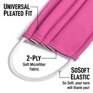 Hot Pink Solid Kids Universal Pleated Fit, 2-Ply, SoSoft Elastic Earloops
