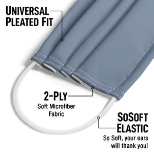 Solid Demin Blue Adult Universal Pleated Fit, 2-Ply, SoSoft Elastic Earloops