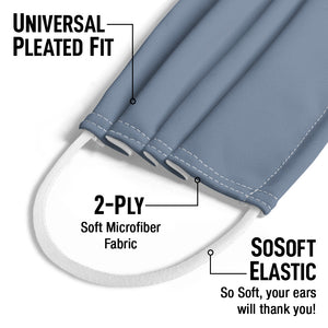 Solid Demin Blue Kids Universal Pleated Fit, 2-Ply, SoSoft Elastic Earloops