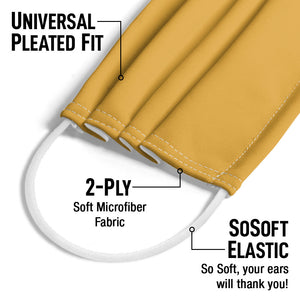 Solid Saffron Adult Universal Pleated Fit, 2-Ply, SoSoft Elastic Earloops