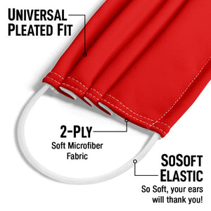Solid Rainbow Red Adult Universal Pleated Fit, 2-Ply, SoSoft Elastic Earloops