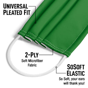Solid Rainbow Green Adult Universal Pleated Fit, 2-Ply, SoSoft Elastic Earloops