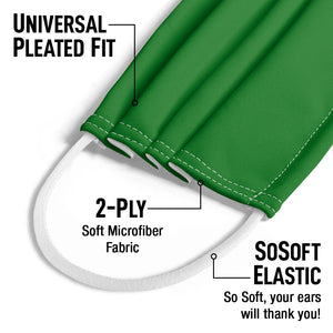 Solid Rainbow Green Kids Universal Pleated Fit, 2-Ply, SoSoft Elastic Earloops