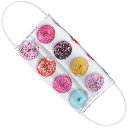 Colorful Donut Pattern Adult Flat View