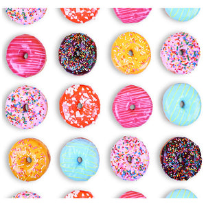 Colorful Donut Pattern Adult Mask Design Full View