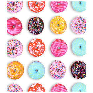Colorful Donut Pattern Kids Mask Design Full View