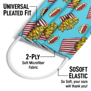 Load image into Gallery viewer, Large Order of French Fries Pattern Adult Universal Pleated Fit, 2-Ply, SoSoft Elastic Earloops
