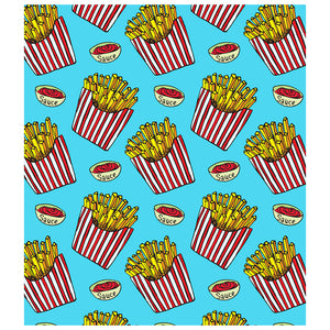 Large Order of French Fries Pattern Kids Mask Design Full View