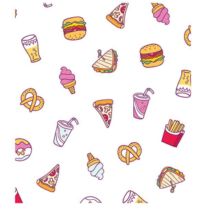 Load image into Gallery viewer, Junk Food Snacks Pattern Kids Mask Design Full View