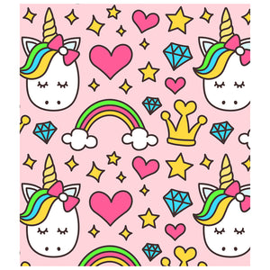 Royal Unicorn and Rainbows Pattern