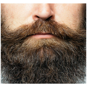 Load image into Gallery viewer, Hipster Beard Adult Mask Design Full View
