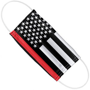 Thin Red Line Flag Adult Flat View