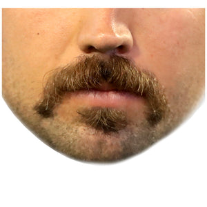 Hipster Moustache Adult Mask Design Full View