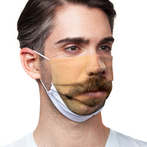 Load image into Gallery viewer, Hipster Moustache Adult Main/Model View