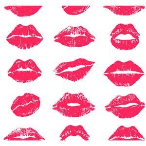 Lipstick Lip Stains Pattern Adult Mask Design Full View