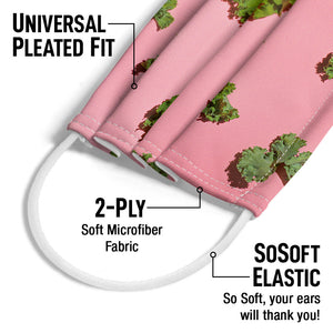 Load image into Gallery viewer, Fresh Kale Leaves Pattern Adult Universal Pleated Fit, 2-Ply, SoSoft Elastic Earloops
