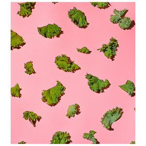 Load image into Gallery viewer, Fresh Kale Leaves Pattern Kids Mask Design Full View