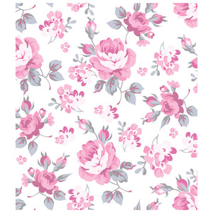 Pretty Pink Roses Flowers Pattern