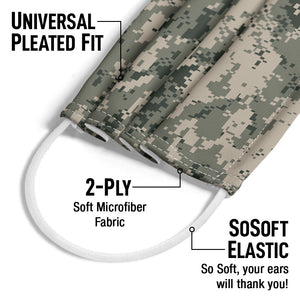 Digtal Camouflage Pattern Adult Universal Pleated Fit, 2-Ply, SoSoft Elastic Earloops