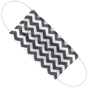 Soft Black Chevron Pattern Adult Flat View