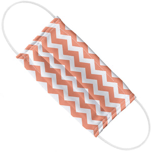 Coral Chevron Pattern Adult Flat View