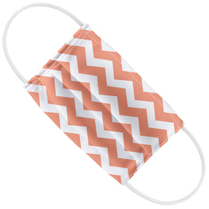 Coral Chevron Pattern Kids Flat View