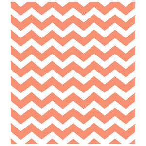 Coral Chevron Pattern Kids Mask Design Full View
